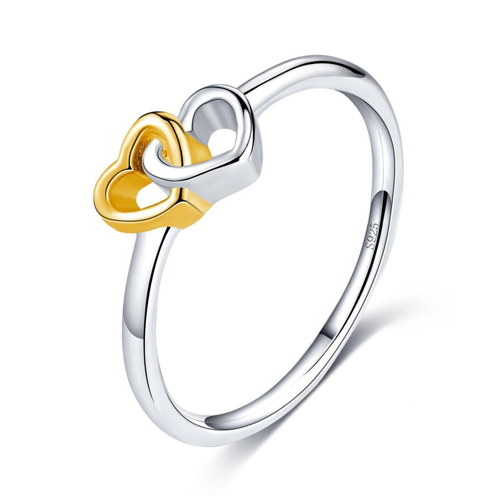 Penelope's Intertwined Hearts Purity Ring