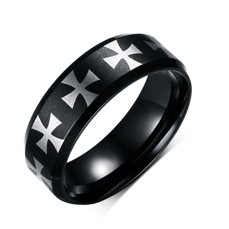 Penelope's Polished Cross Christian Ring