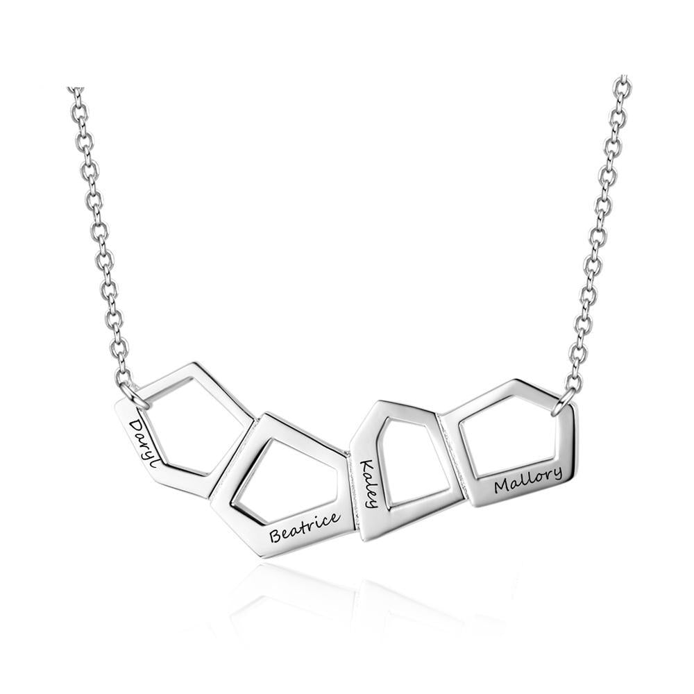 Penelope's Geometry Four Name Necklace
