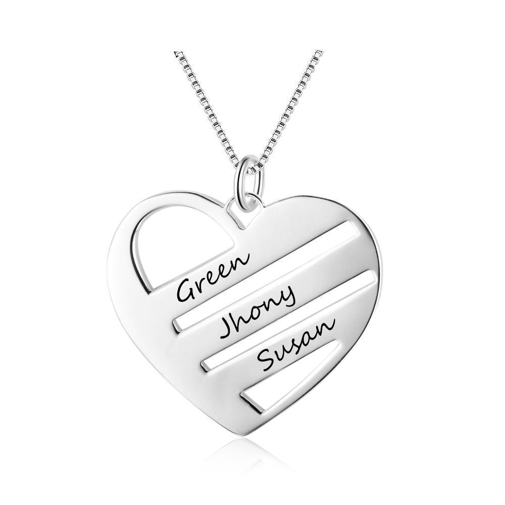 Penelope's Heart Triple Name Necklace