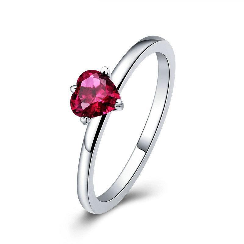 Penelope's Vibrant Red Heart Promise Ring