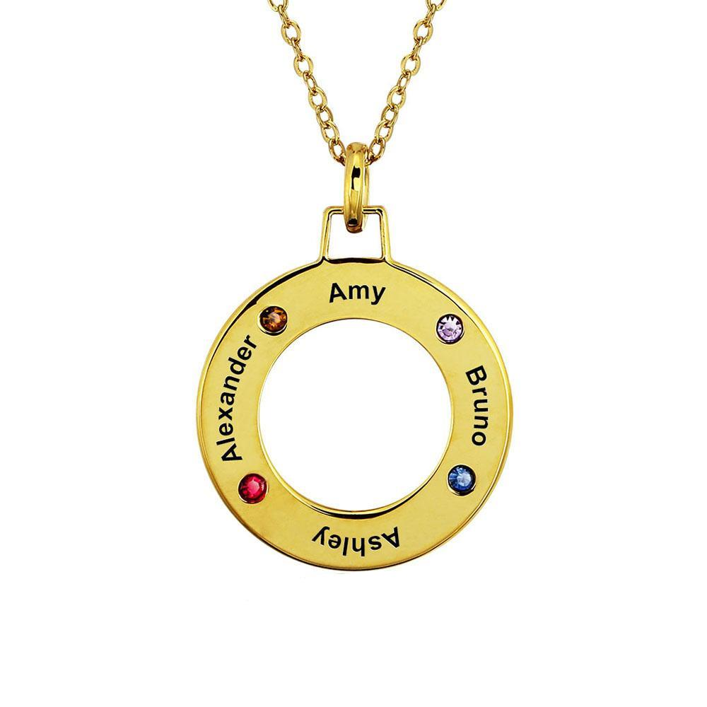 Penelope's Circle Shaped Custom Name Necklace Pendant