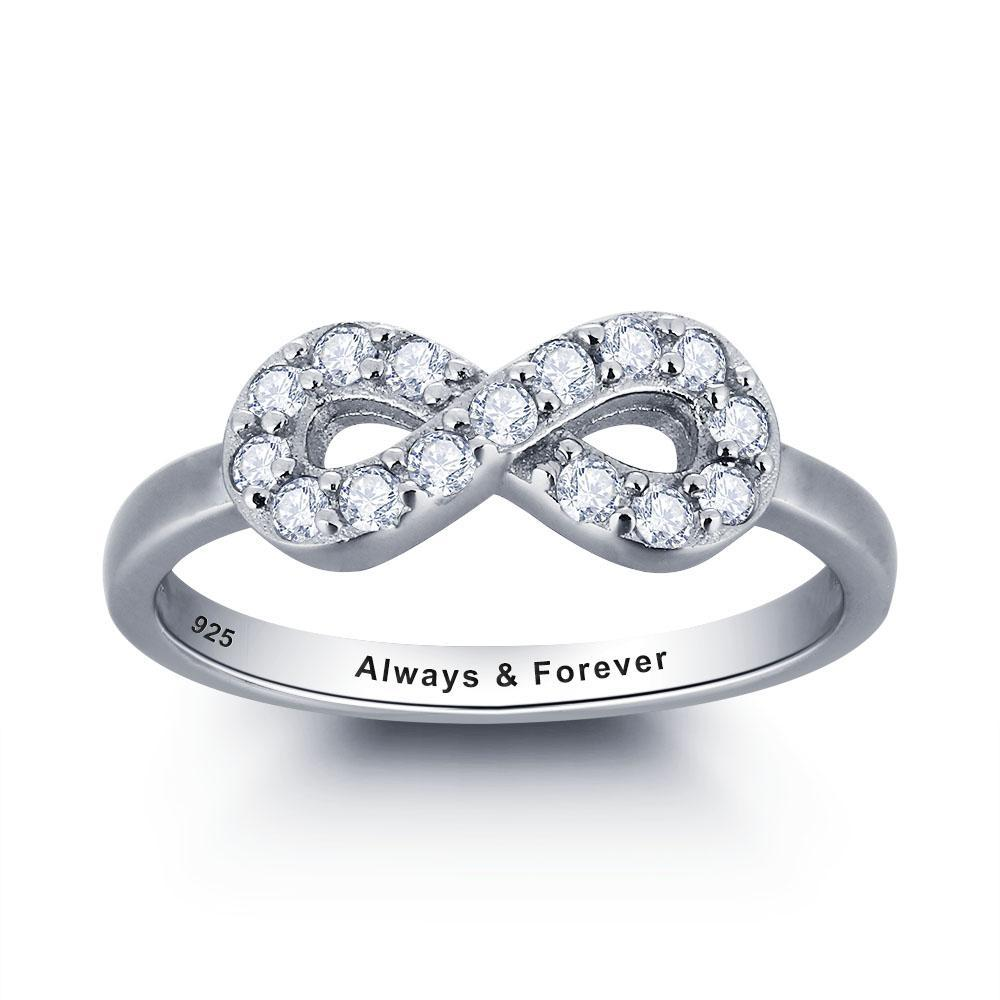 Penelope's Infinite Love Custom Engrave Purity Ring