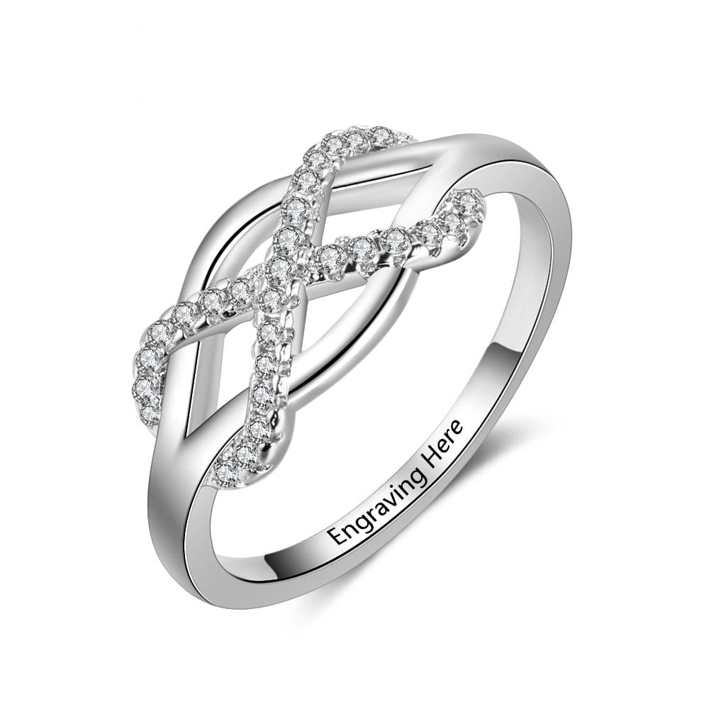 Penelope's Intertwined Infinity Love Promise Ring