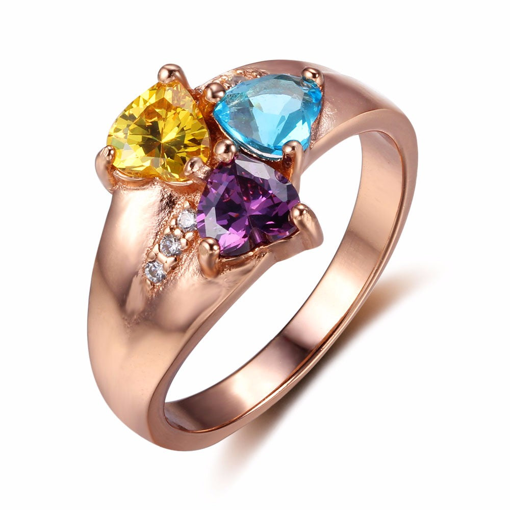 Penelope's Triple Heart Birthstone Promise Ring