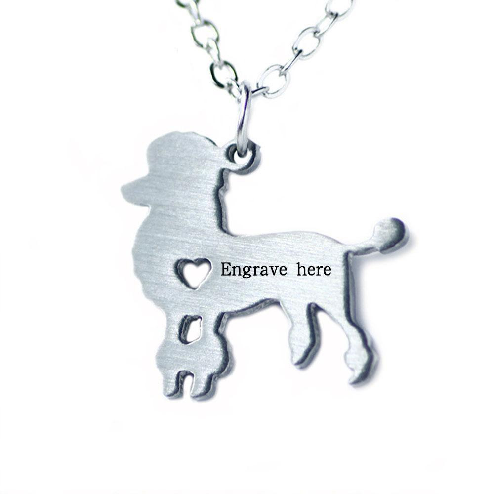 Penelope's Cute Dog Personalized Name Necklace
