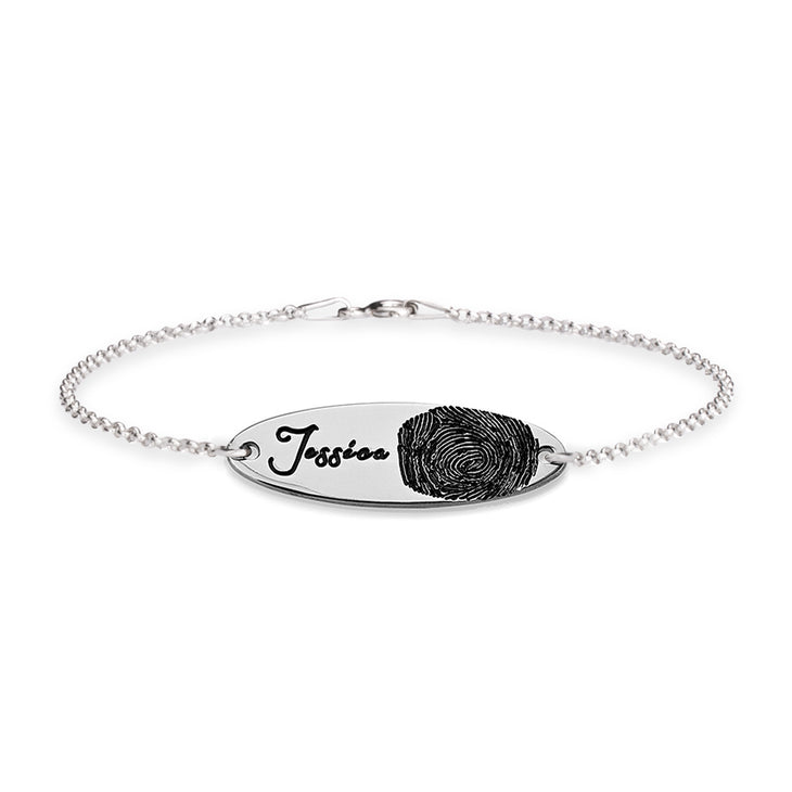 Fingerprint Bar Bracelet