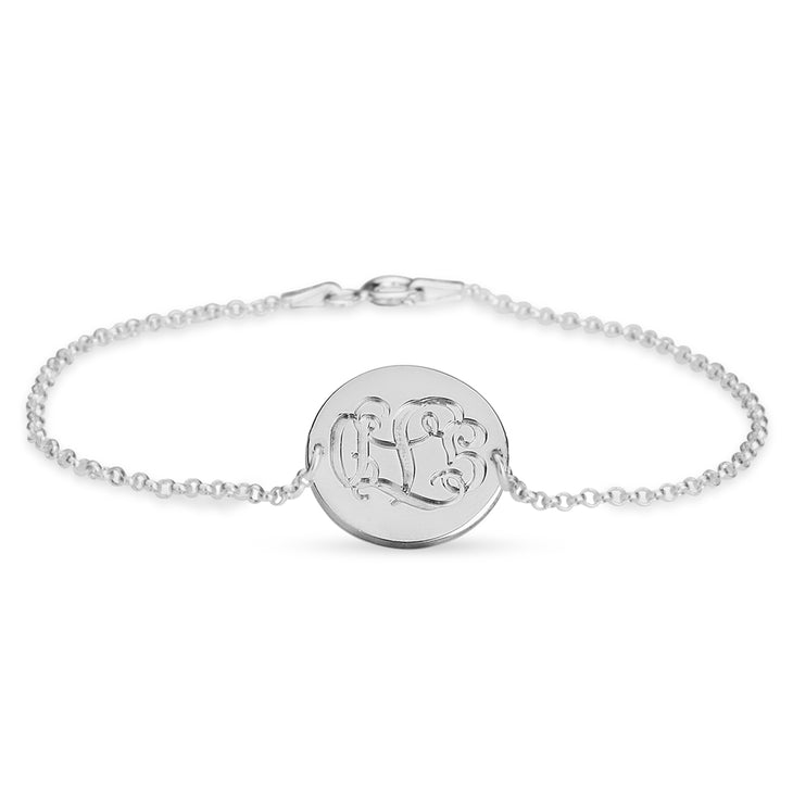 Engraved Monogram Bracelet