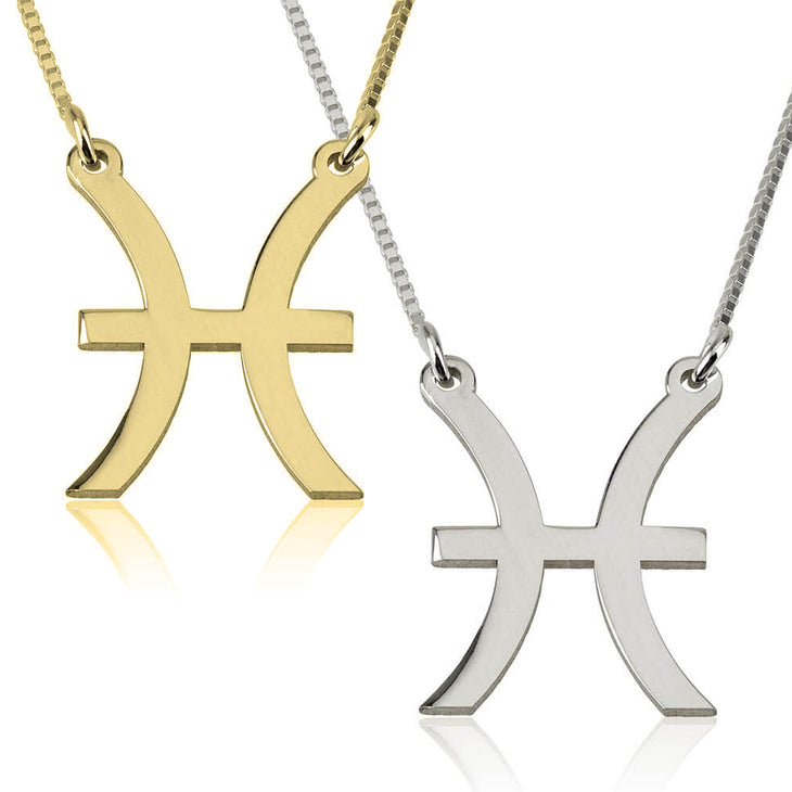 Pisces Zodiac Necklace