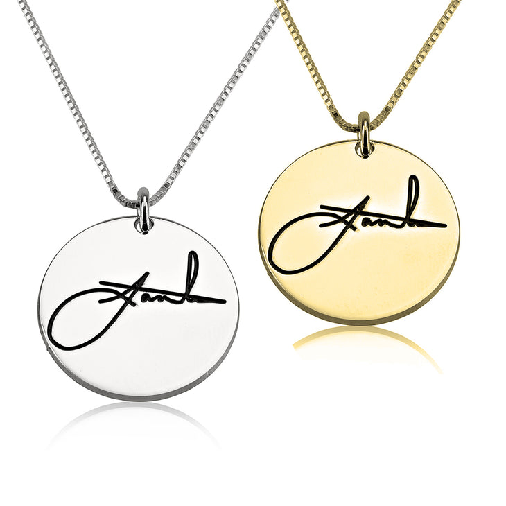 Circle Signature Necklace