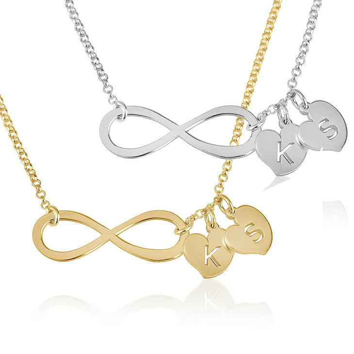 Infinity Necklace with Initials