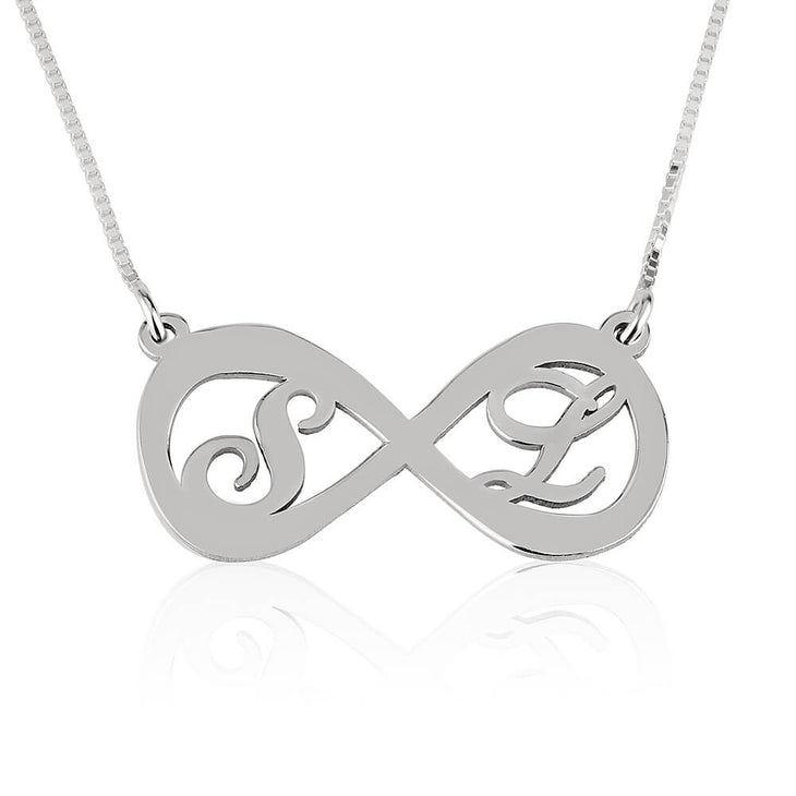 Two Letters Infinity Necklace