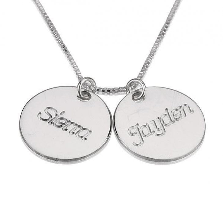 Engraved Necklace with Two Names