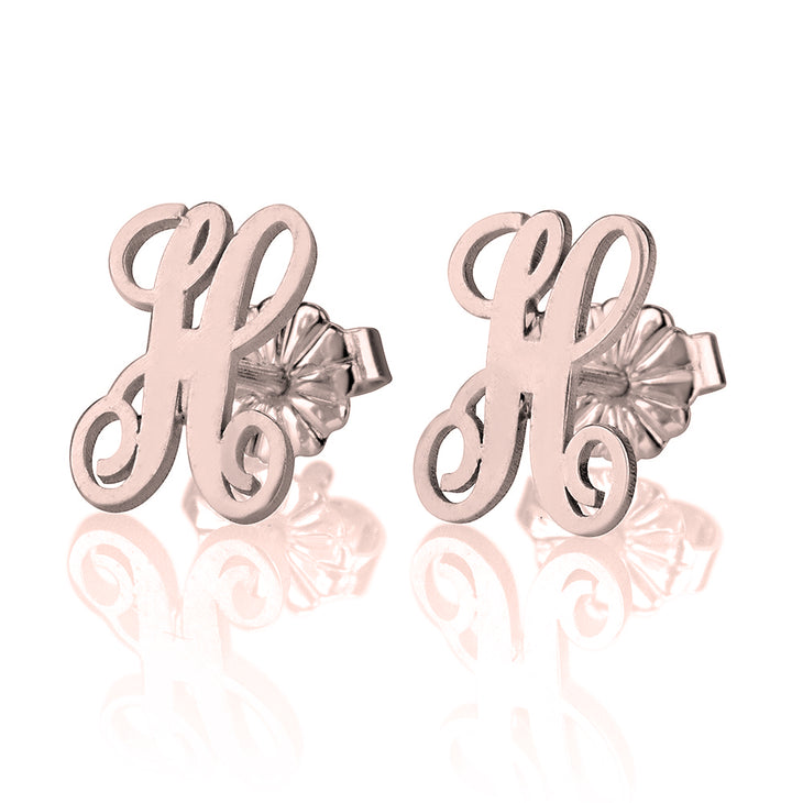 Script Letter Earrings