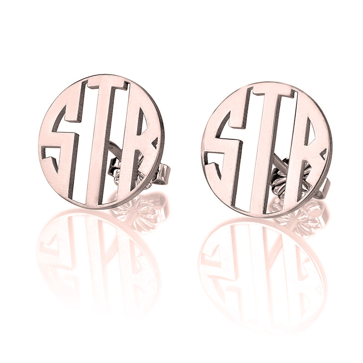 Capital Letter Monogram Stud Earrings
