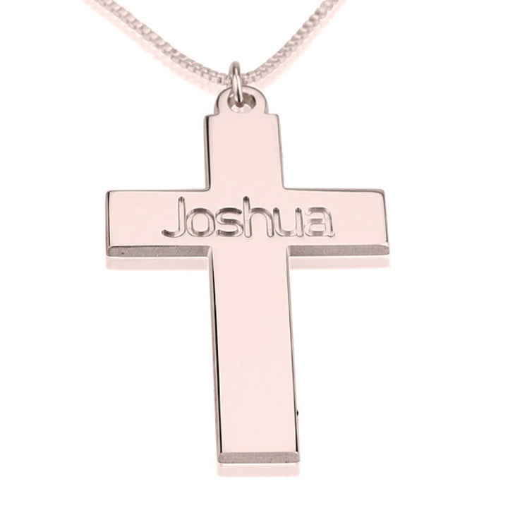 Cross Name Necklace