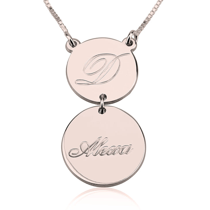 Two Disc Initial Necklace
