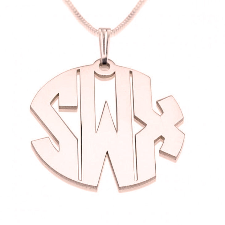 Block Letters Monogram Necklace