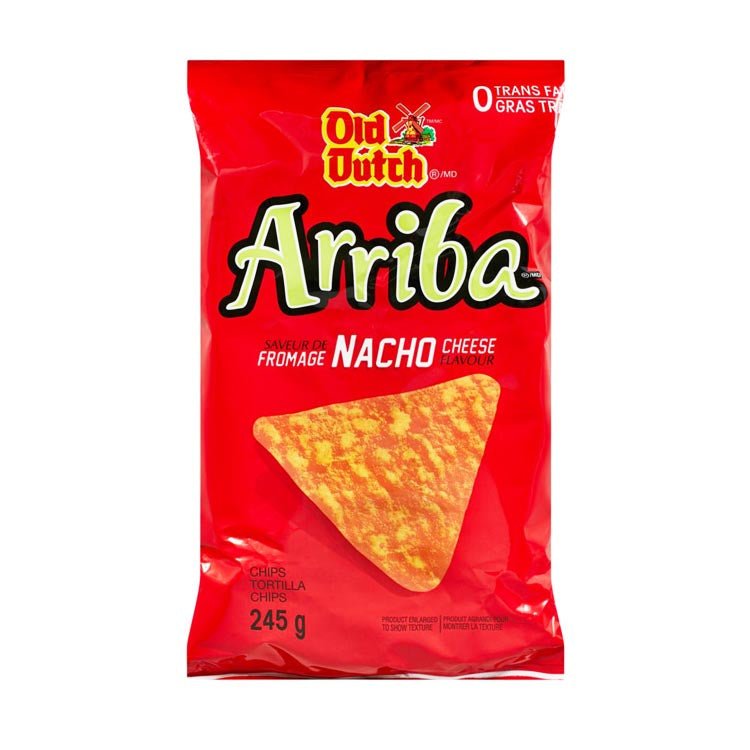 Old Dutch Arriba Nacho Cheese Tortilla Chips 245g/8.6oz Bag