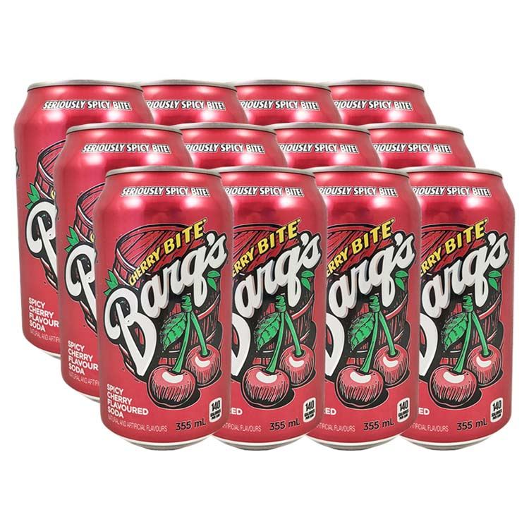 Barqs Cherry Bite Soda Pop 355mL/12oz Can