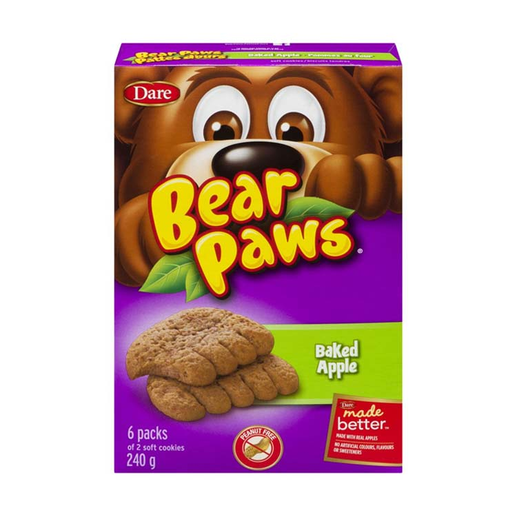 Dare Bear Apple Baked Soft Cookie 240g/8.4oz Box