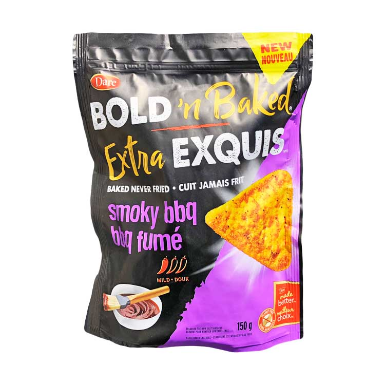 Dare Bold N Baked Extra Exquis Smoky BBQ Chips 150g/5.2oz Bag