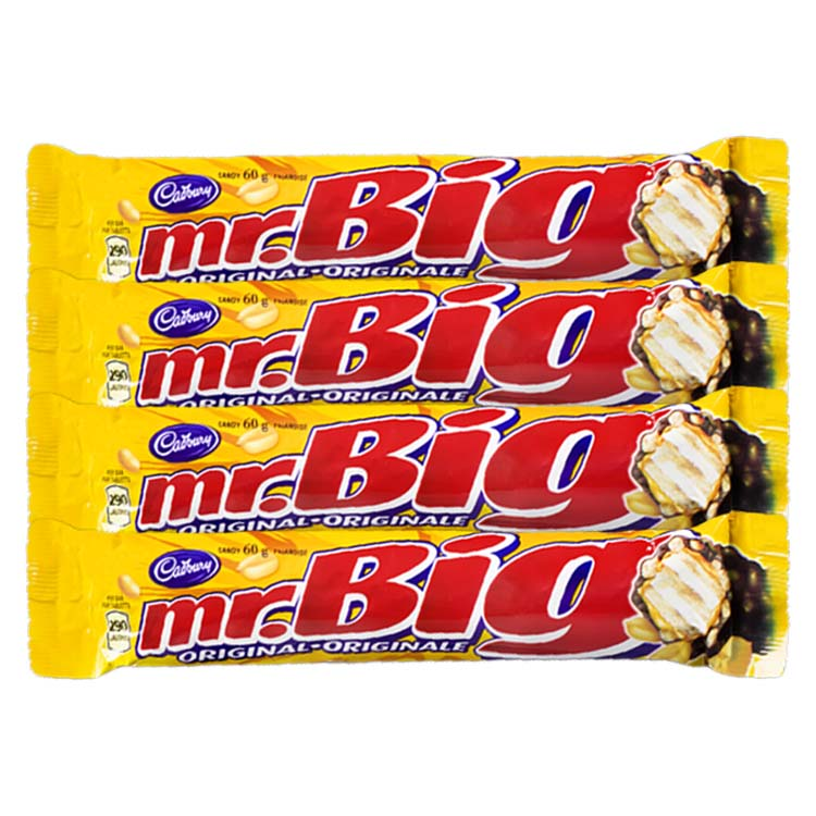 Cadbury Mr Big Original Chocolate Bar 60g/2.1oz Bar