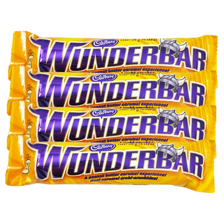 Cadbury Wunderbar 58g/2oz Chocolate Candy Bar