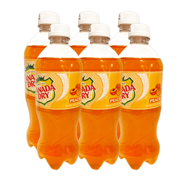 Canada Dry Peach Soda Pop 591ml/20 oz Bottle