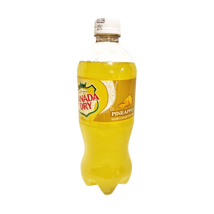 Canada Dry Pineapple Soda Pop 591mL/20oz Bottle