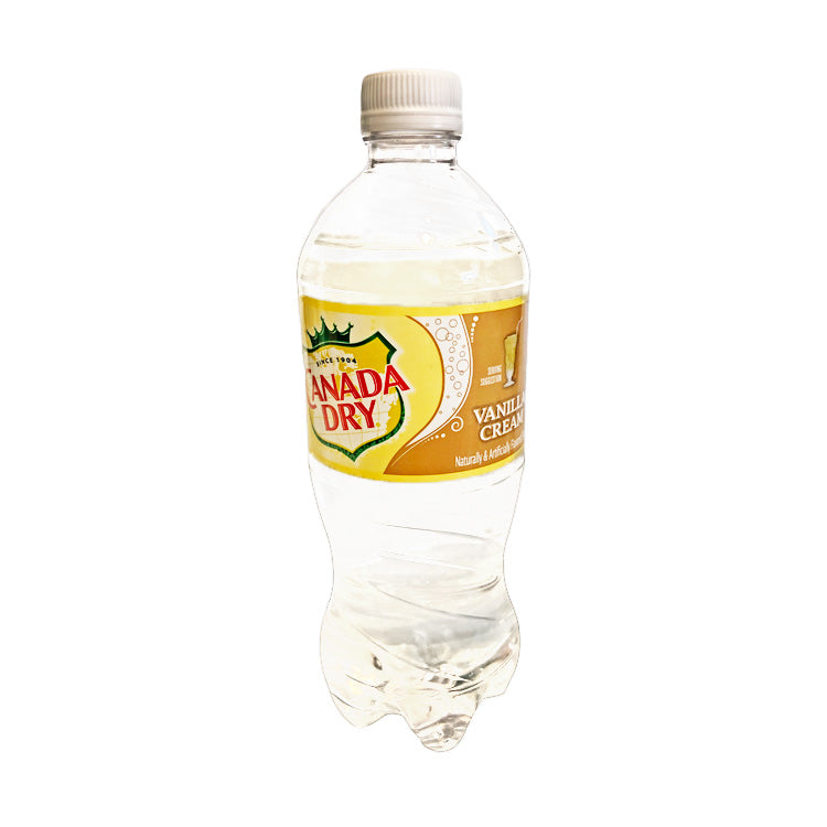 Canada Dry Vanilla Cream Soda Pop 591mL/20 oz Bottle