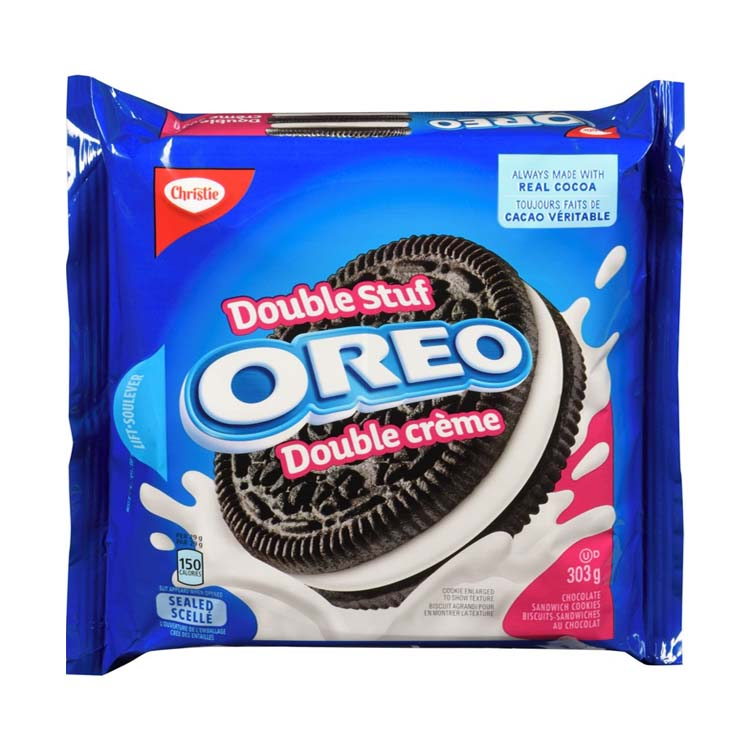Christie Double Stuf Oreo Cookies 303g/10.7oz Pack