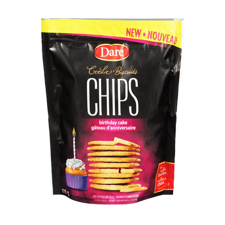 Dare Birthday Cake Cookie Chips 170g/6oz Bag