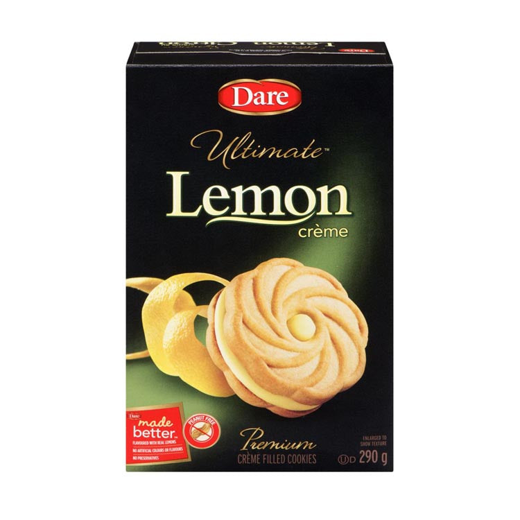 Dare Ultimate Lemon Cream Cookies 290g/10.2oz