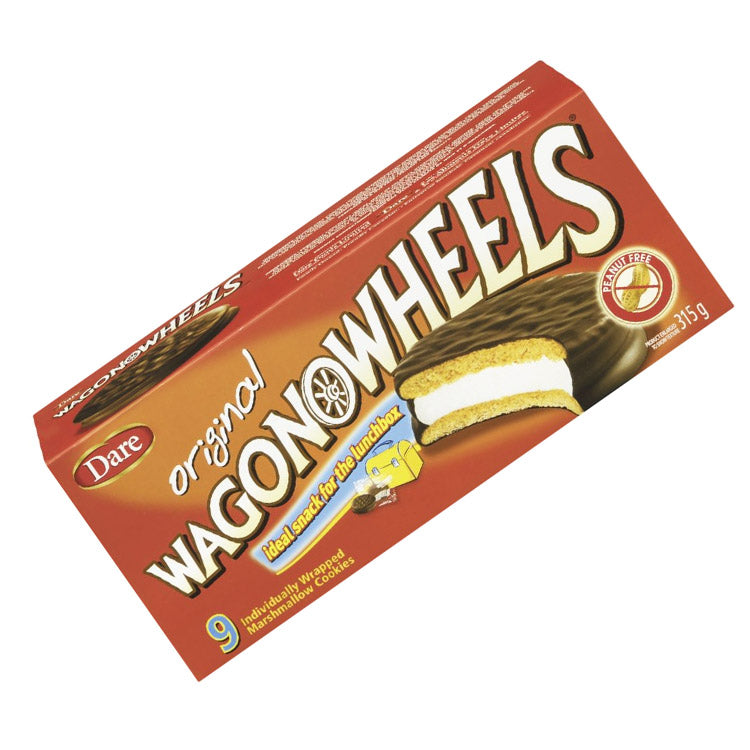 Dare Original Wagon Wheels Marshmallow Cookie Sandwich 360g/12.7oz Box