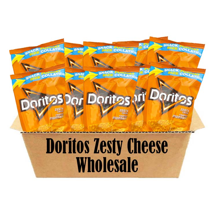 Doritos Zesty Cheese Tortilla Chips Wholesale 70g/2.4oz Bags