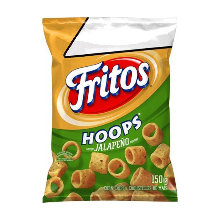 Fritos Hoops Jalapeno Corn Chips 150g/5.2 oz Bag