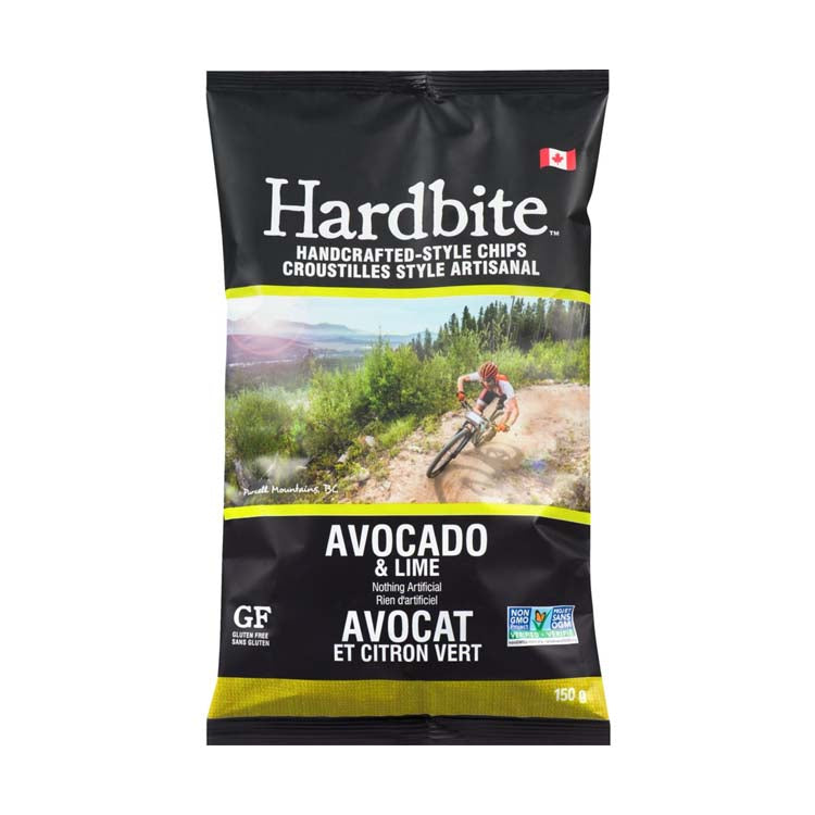 Hardbite Handcrafted Avocado & Lime Potato Chips 150g/5.3oz Bag