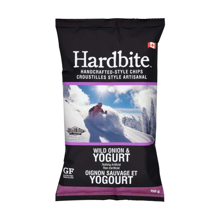 Hardbite Handcrafted Wild Onion & Yogurt Potato Chips 150g/5.3oz Bag