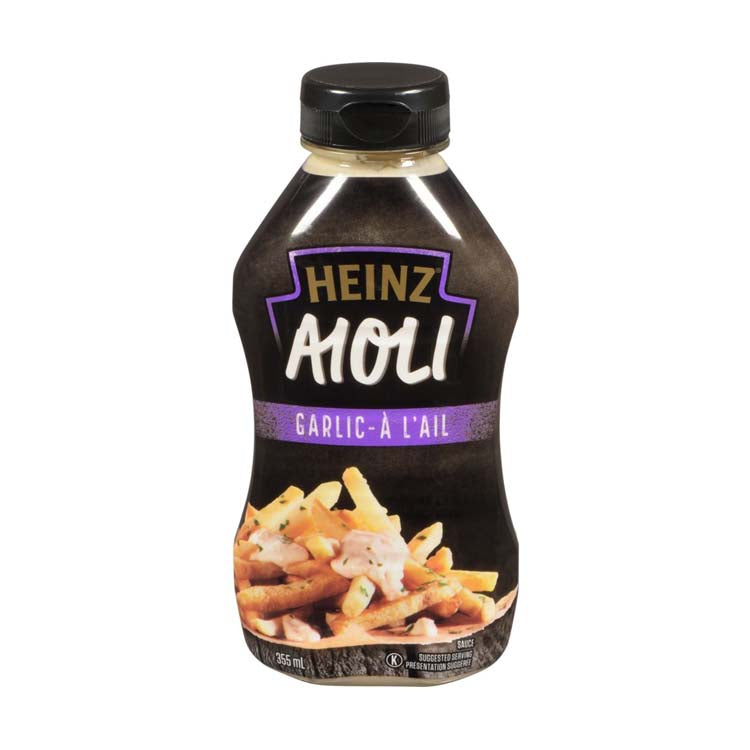 Heinz Garlic Aioli Dipping Sauce 355ml/12oz Bottle