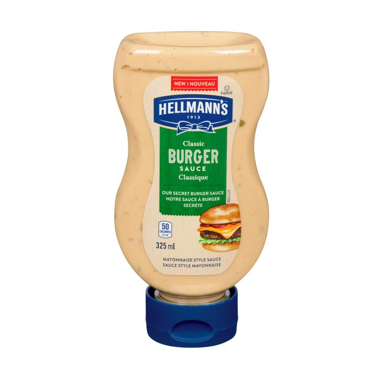 Hellmann's Classic Burger Condiment Sauce 325mL/11oz Bottle