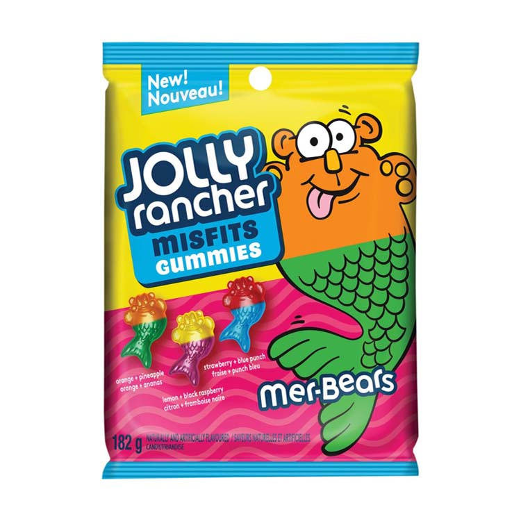 Jolly Rancher Mer-Bears Misfits Gummies Candy 182g/6.4 oz Bag