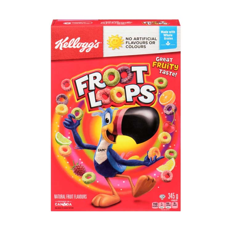 Kellogg's Froot Loops Cereal 345g/12.1 oz Box