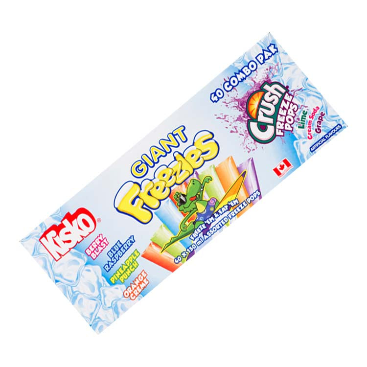 Kisko And Crush Giant Freezies Ice Pops Variety 40 Pack