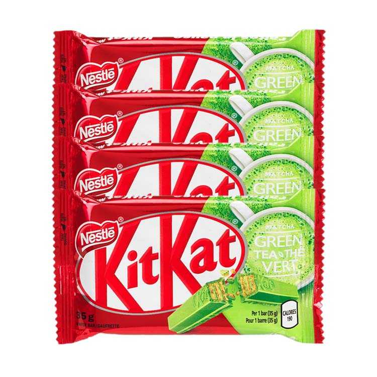 Kit Kat Matcha Green Tea Candy 35g/1.2 oz Bar (4 Pack)