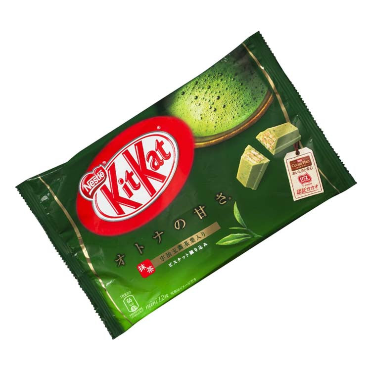 Nestle Kit Kat Green Tea 12 Mini Bars (136g/4.7 oz Bag)