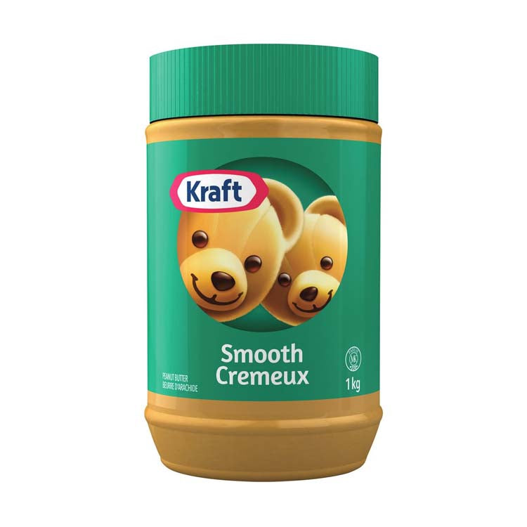 Kraft Smooth Peanut Butter Spread 1kg/2.2lb Jar