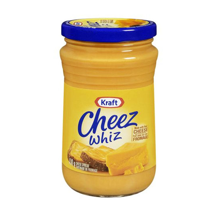 Kraft Cheez Whiz Spread 450ml/1lb Glass Jar