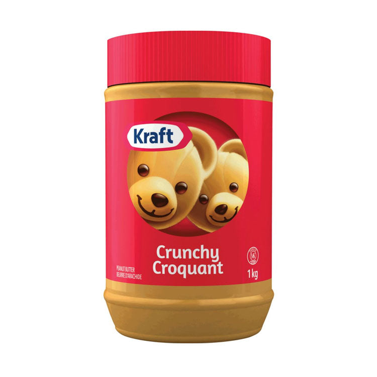 Kraft Crunchy Peanut Butter Spread 1kg/2.2lb Container