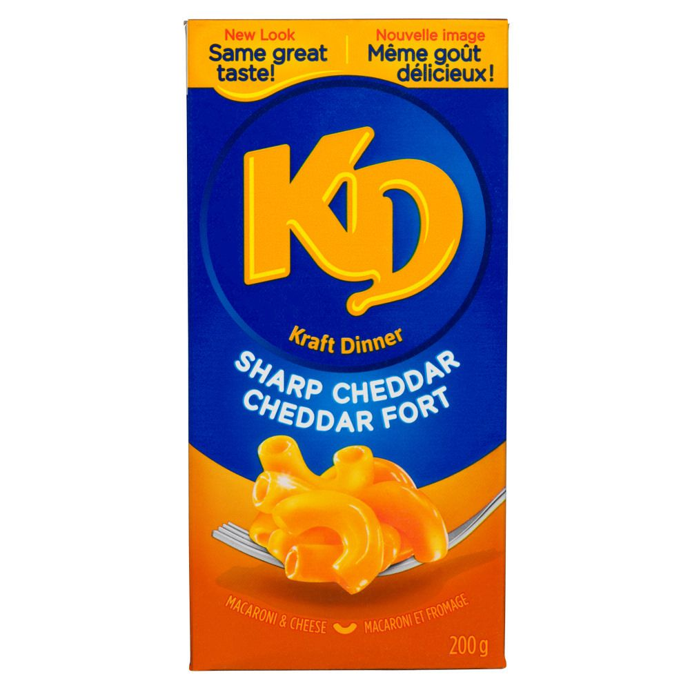 Kraft Dinner Sharp Cheddar Macaroni 200g/7oz Box